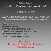 Evento sobre Políticas Públicas - Recorte Racial na Roça Omi Aladô