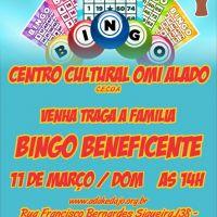 Bingo Beneficente dia 11 de março